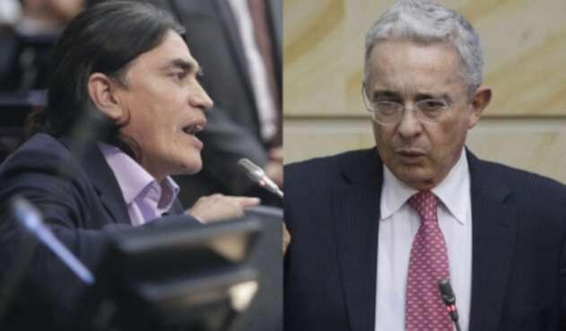 Gustavo Bolívar y Álvaro Uribe Vélez