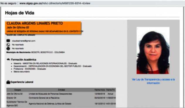 Claudia Linares, hermana de Patricia Linares, y su vinculación a la JEP
