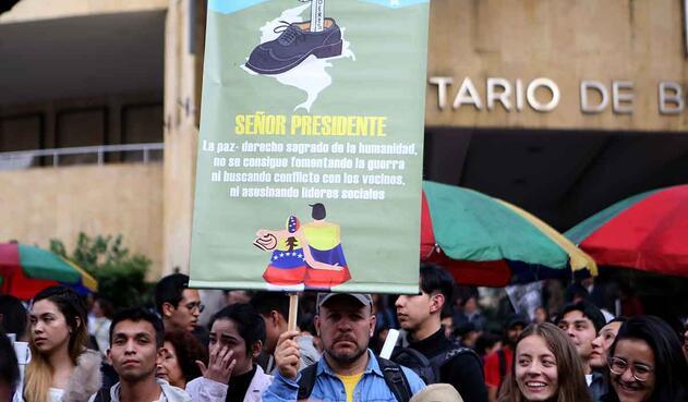 Marcha por la JEP en Bogotá, 18 de marzo de 2019.