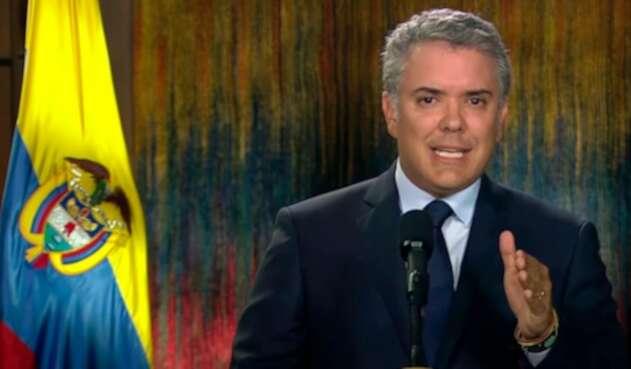 El presidente Iván Duque en la Casa de Nariño