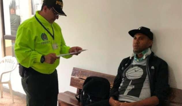El exfutbolista Jhon Viáfara, en poder de las autoridades
