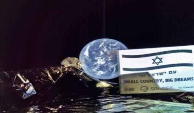 Selfie sonda lunar israeli