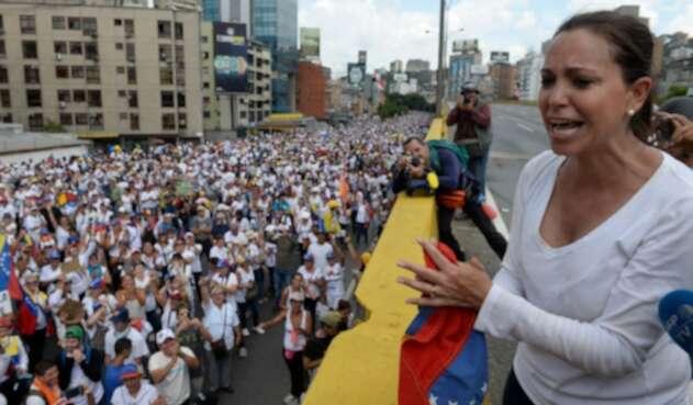 María Corina Machado, dirigente de Vente Venezuela, en Caracas