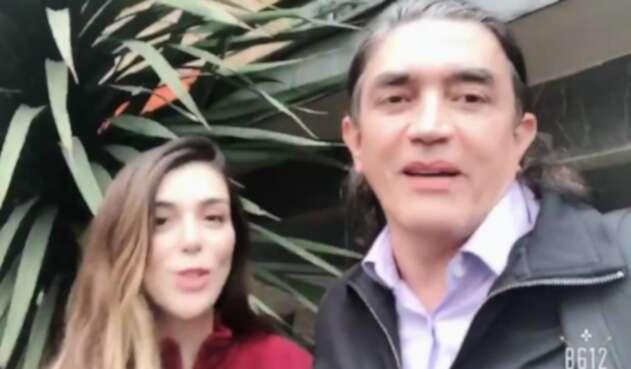 Marilyn Patiño y Gustavo Bolívar.