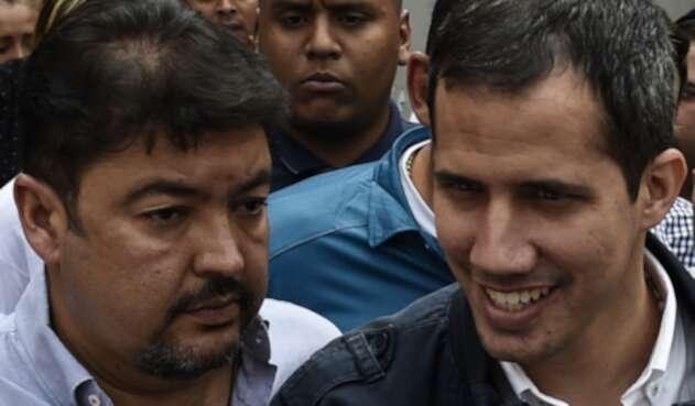 Roberto Marrero y Juan Guaidó.