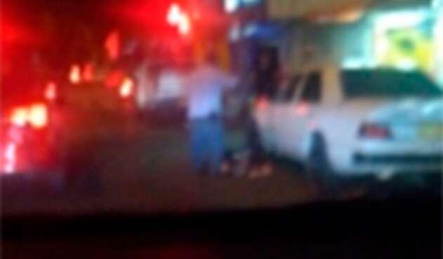 Imagen del doble homicidio ocurrido en límites de las comunas 12 y 13 de Medellín