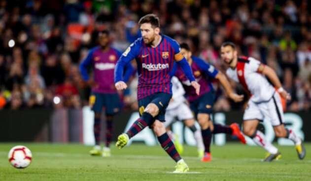 Leo Messi con la camiseta de FC Barcelona