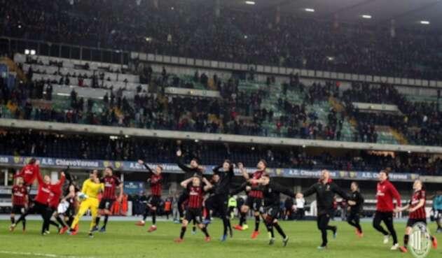 El AC MIlan celebra una victoria