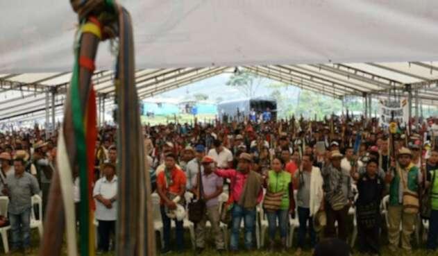 Minga indígena en el Cauca