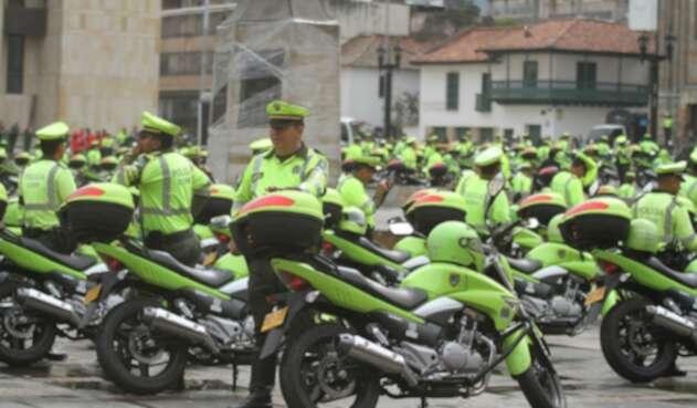 Motos de la Policía en Bogotá