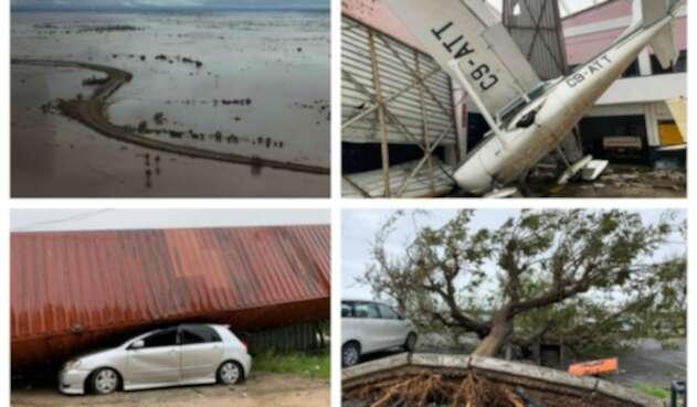 Paso devastador de ciclón en Mozambique