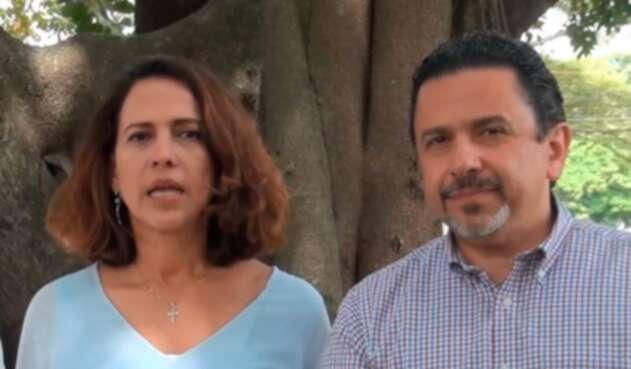 Nancy Patricia Gutiérrez y Miguel Ceballos, ministra del Interior y alto comisionado para la Paz