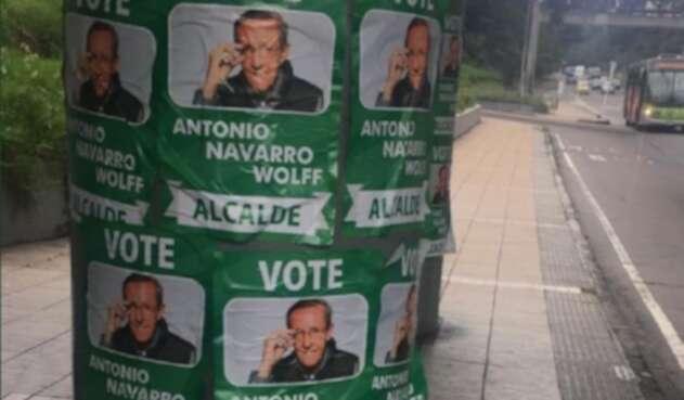 Publicidad falsa campaña Navarro