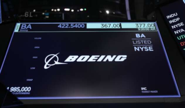 La firma aeronáutica Boeing en Wall Street