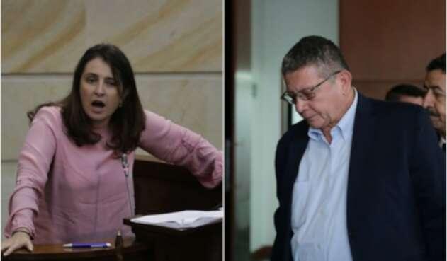 Paloma Valencia y Pablo Catatumbo, congresistas
