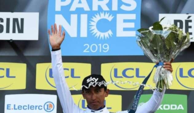 Egan Bernal ganó camiseta blanca por mejor joven en la París Niza
