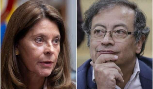 Marta Lucía Ramírez y Gustavo Petro