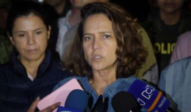 Ministra del Interior, Nancy Patricia Gutiérrez, en la Minga indígena del Cauca