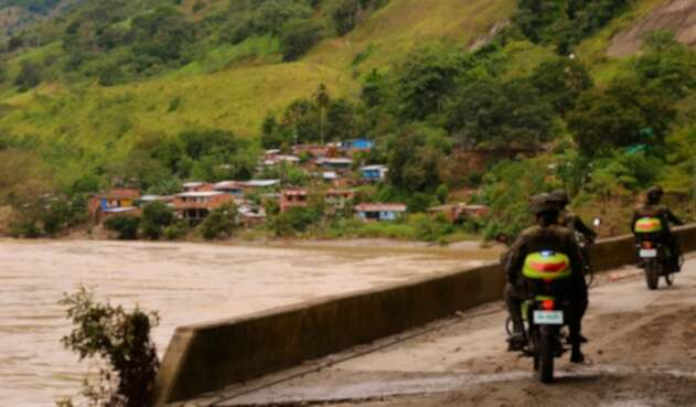 Puerto Valdivia (Antioquia), en inmediaciones de Hidroituango