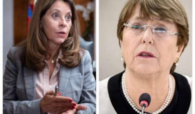 Marta Lucía Ramírez y Michelle Bachelet