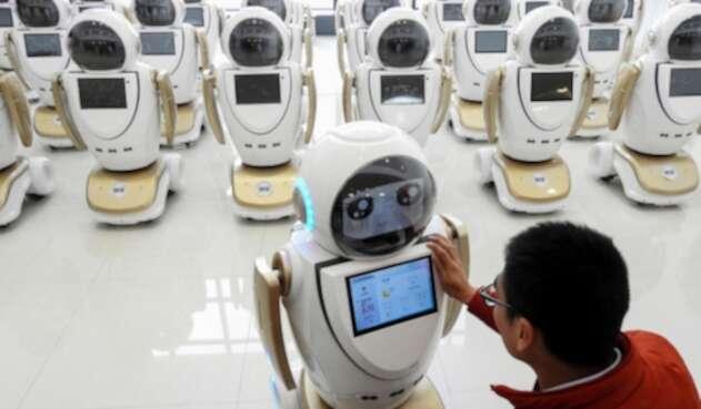Robots puestos en marcha en China el 4 de diciembre de 2018