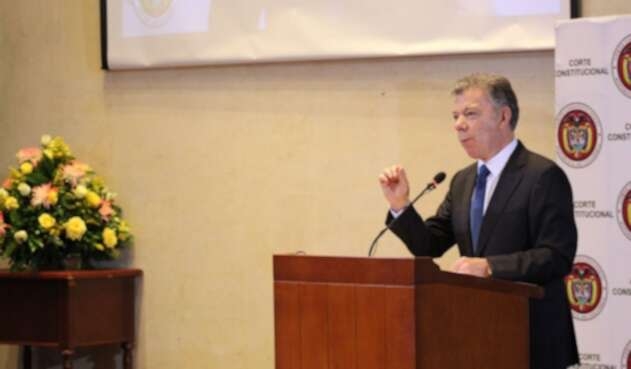 Juan Manuel Santos en audiencia pública por uso de glifosato.