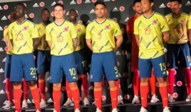 La Selección Colombia con la camiseta 2019-2020