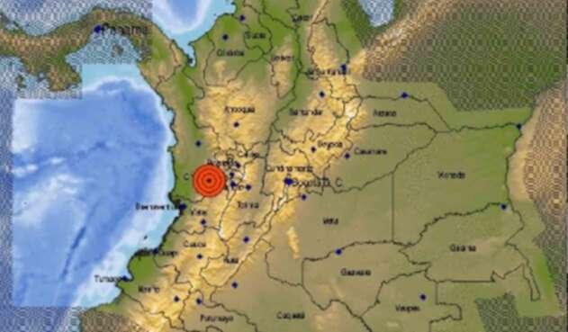 Zona de temblor en Colombia