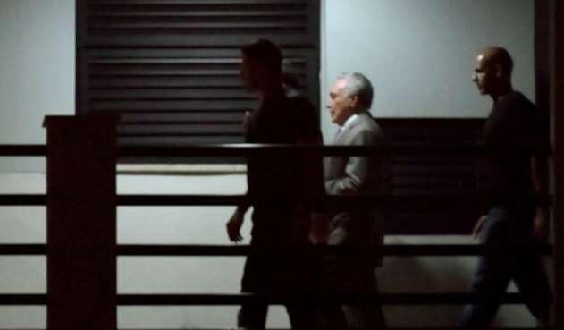 Michel Temer pasó su primera noche en prisión