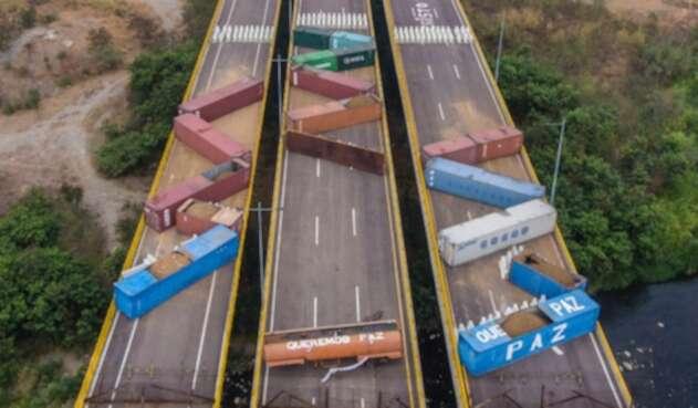 Tienditas, puente que divide a Colombia de Venezuela