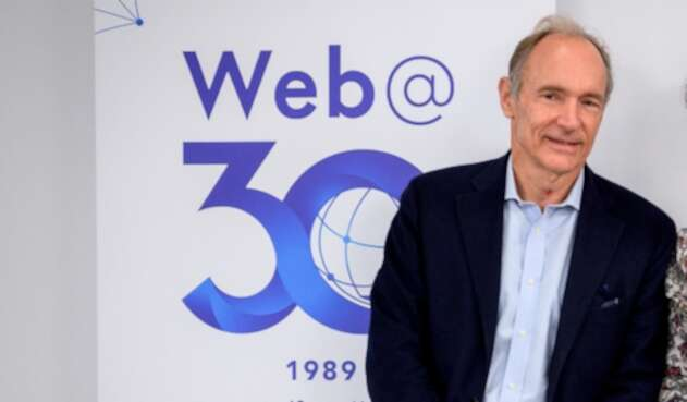 Tim Berners-Lee, inventor del protocolo World Wide Web, en Ginebra (Suiza)