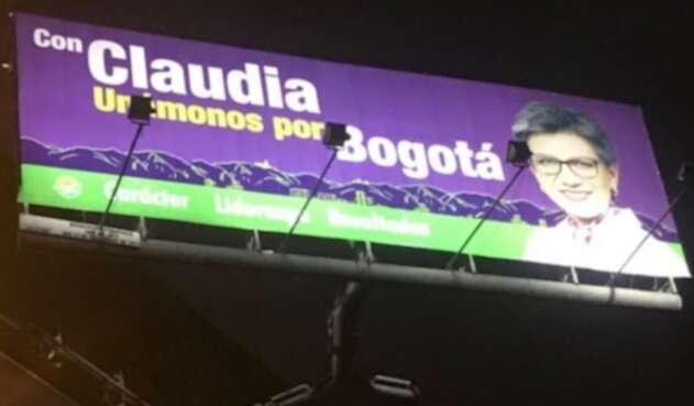 Vallas de Claudia López