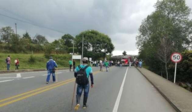Bloqueo en Vía Panamericana