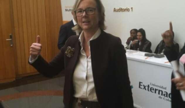 Embajadora en Colombia de la Unión Europea, Patricia Llombart.