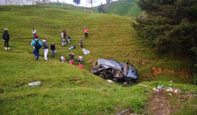 Aparatoso accidente en Donmatías, Antioquia.