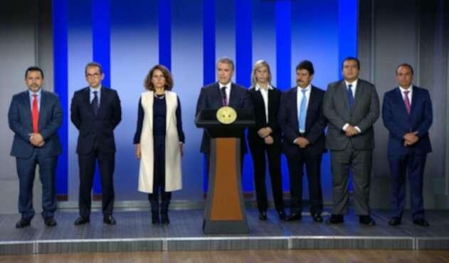 Presidente Iván Duque, tras reunión con los gobernadores del país