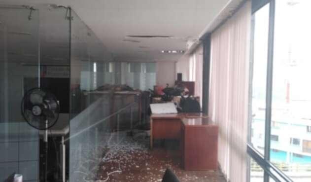 Así quedó el Concejo de Manizales tras el sismo.