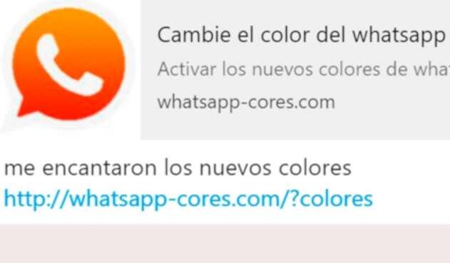 La imagen del Whatsapp naranja que han visto cientos de personas