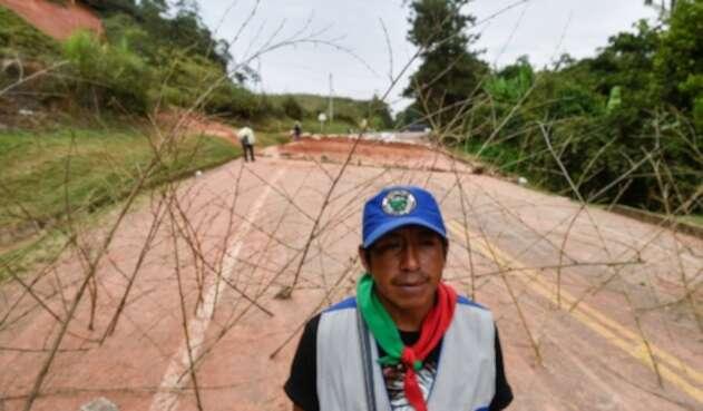 Minga indígena bloquea vía Panamericana en el Cauca