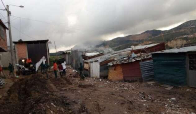 Barrio Divino Niño, afectado por los deslizamientos en Ciudad Bolívar