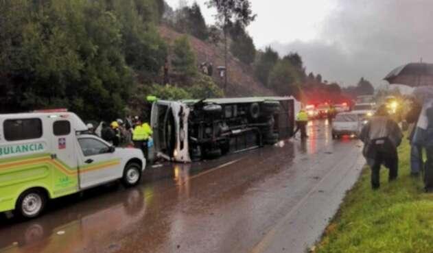 Accidente Bus Los Libertadores Tunja Bogotá