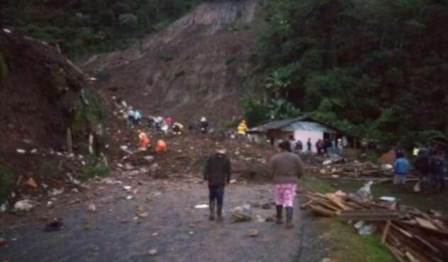 Emergencia en el Cauca