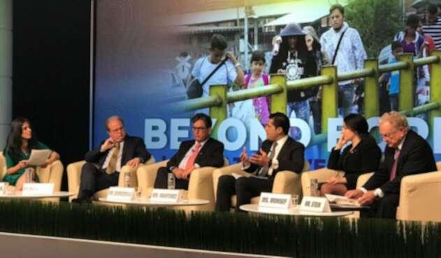 Sectores del Mecanismo Global de Financiamiento Concesional reunidos para anunciar la ayuda a Colombia