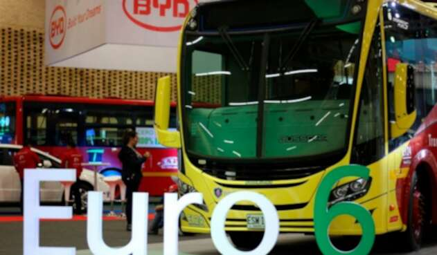 Un bus a gas natural marca Scania