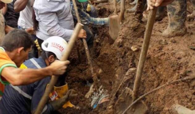 Labores de rescate en el Cauca