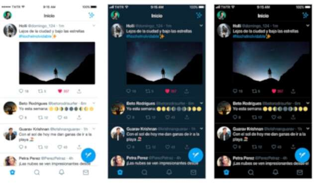 Twitter mejora su modo oscuro