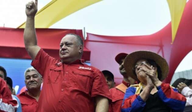 Diosdado Cabello en una nueva jornada de marchas en Venezuela