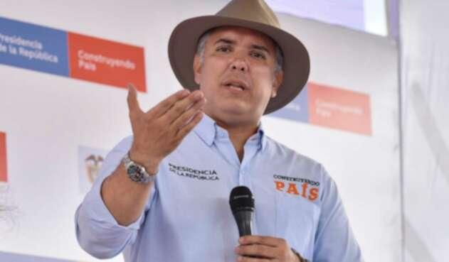 El presidente Iván Duque en Timbío (Cauca)