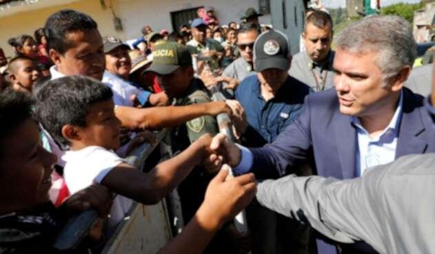 Presidente Iván Duque en Caldono, Cauca