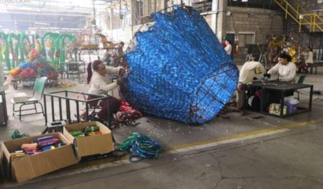 El material utilizado en Medellín para el alumbrado navideño